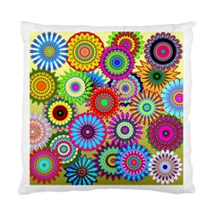 Psychedelic Flowers Cushion Case (two Sided)