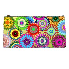 Psychedelic Flowers Pencil Case