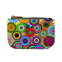 Psychedelic Flowers Coin Change Purse