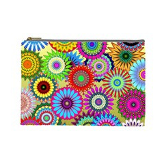 Psychedelic Flowers Cosmetic Bag (large)