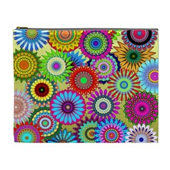 Psychedelic Flowers Cosmetic Bag (xl)