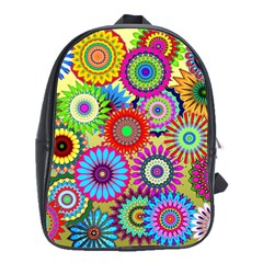 Psychedelic Flowers School Bag (Large)