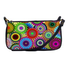 Psychedelic Flowers Evening Bag