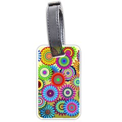 Psychedelic Flowers Luggage Tag (One Side)
