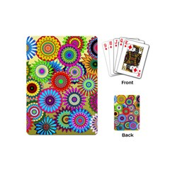 Psychedelic Flowers Playing Cards (mini)
