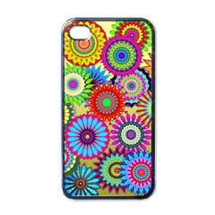 Psychedelic Flowers Apple Iphone 4 Case (black)