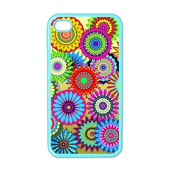 Psychedelic Flowers Apple Iphone 4 Case (color)