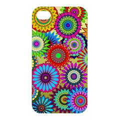 Psychedelic Flowers Apple iPhone 4/4S Hardshell Case