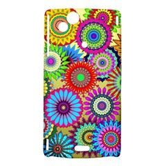 Psychedelic Flowers Sony Xperia Arc Hardshell Case