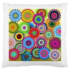 Psychedelic Flowers Large Cushion Case (Two Sided)