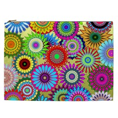 Psychedelic Flowers Cosmetic Bag (xxl)