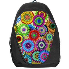 Psychedelic Flowers Backpack Bag