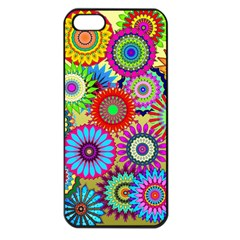 Psychedelic Flowers Apple Iphone 5 Seamless Case (black)