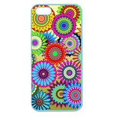 Psychedelic Flowers Apple Seamless Iphone 5 Case (color)