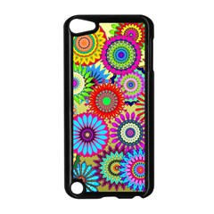 Psychedelic Flowers Apple iPod Touch 5 Case (Black)