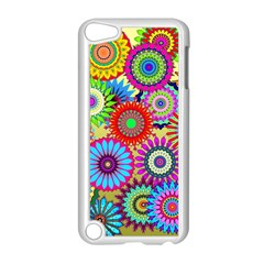 Psychedelic Flowers Apple Ipod Touch 5 Case (white)