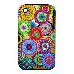 Psychedelic Flowers Apple iPhone 3G/3GS Hardshell Case (PC+Silicone)