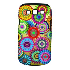 Psychedelic Flowers Samsung Galaxy S III Classic Hardshell Case (PC+Silicone)