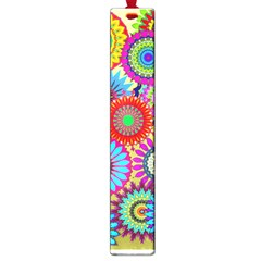 Psychedelic Flowers Large Bookmark