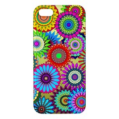 Psychedelic Flowers Apple Iphone 5 Premium Hardshell Case