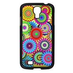 Psychedelic Flowers Samsung Galaxy S4 I9500/ I9505 Case (Black)