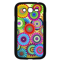 Psychedelic Flowers Samsung Galaxy Grand DUOS I9082 Case (Black)