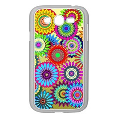 Psychedelic Flowers Samsung Galaxy Grand DUOS I9082 Case (White)