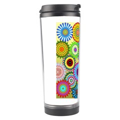 Psychedelic Flowers Travel Tumbler