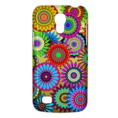 Psychedelic Flowers Samsung Galaxy S4 Mini (GT-I9190) Hardshell Case