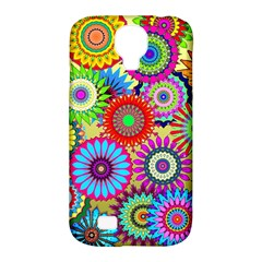 Psychedelic Flowers Samsung Galaxy S4 Classic Hardshell Case (PC+Silicone)
