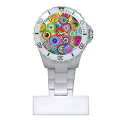 Psychedelic Flowers Nurses Watch