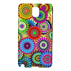 Psychedelic Flowers Samsung Galaxy Note 3 N9005 Hardshell Case