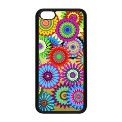 Psychedelic Flowers Apple Iphone 5c Seamless Case (black)