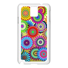 Psychedelic Flowers Samsung Galaxy Note 3 N9005 Case (White)