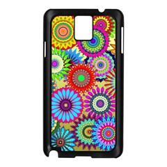 Psychedelic Flowers Samsung Galaxy Note 3 N9005 Case (black)