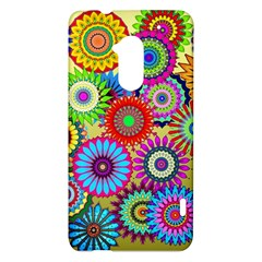 Psychedelic Flowers HTC One Max (T6) Hardshell Case