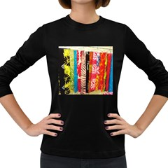 Sarongs(lavalava) Women s Long Sleeve T-shirt (Dark Colored)
