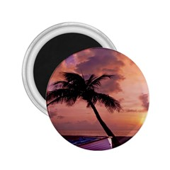 Sunset At The Beach 2.25  Button Magnet