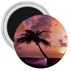 Sunset At The Beach 3  Button Magnet