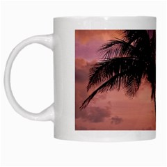 Sunset At The Beach White Coffee Mug