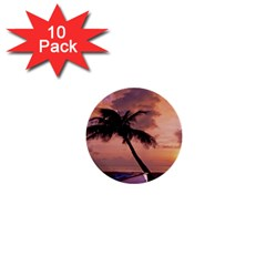 Sunset At The Beach 1  Mini Button (10 pack)