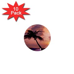 Sunset At The Beach 1  Mini Button Magnet (10 Pack)