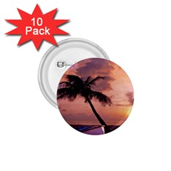 Sunset At The Beach 1.75  Button (10 pack)