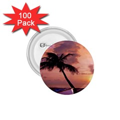 Sunset At The Beach 1 75  Button (100 Pack)