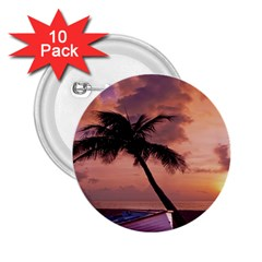 Sunset At The Beach 2 25  Button (10 Pack)