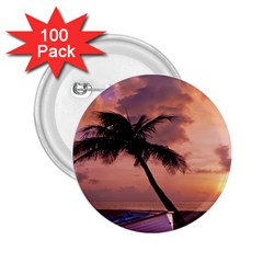 Sunset At The Beach 2.25  Button (100 pack)
