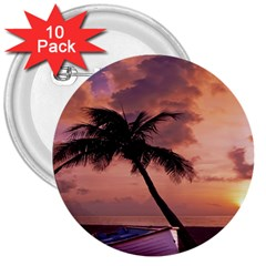 Sunset At The Beach 3  Button (10 pack)