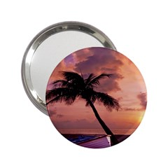 Sunset At The Beach Handbag Mirror (2.25 )