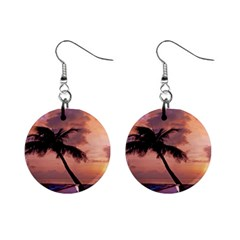 Sunset At The Beach Mini Button Earrings