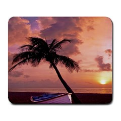 Sunset At The Beach Large Mouse Pad (rectangle)